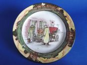 Royal Doulton Early Motoring 'Yokel and Motorists Outside Chequers Inn' Rack Plate D2406 c1910